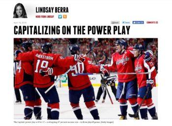 Washington Capitals Power Play Lindsay Berra Ovechkin