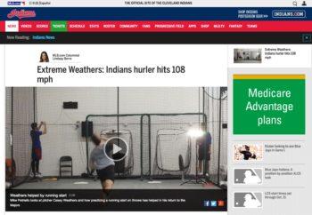 Casey Weathers Indians Lindsay Berra 108 MPH